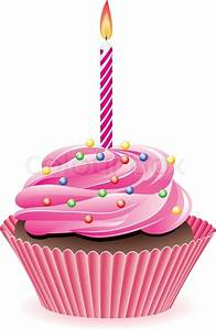 Vector Cupcake With Sprinkles And