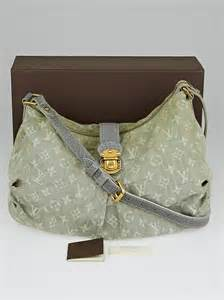 louis vuitton grey denim monogram denim slightly bag