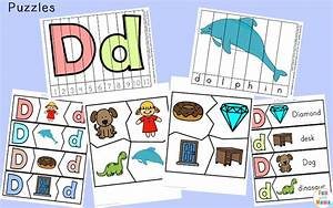 free letter d printable pack fun with mama With 3 letter word building puzzles