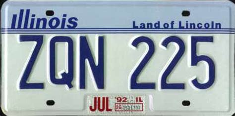 Vanity Plates In Illinois by Reinstate Illinois License Plates Car Registered White