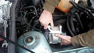 Mobile Mechanic Fitting A New Alternator On A Ford Focus