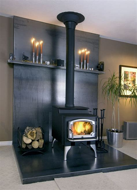 baesta ideerna om wood stove surround pa pinterest