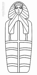 Coloring Mummy Pages Coffin Egyptian Template Printable Cool2bkids sketch template