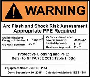warning labels With arc flash labels nfpa 70e 2015