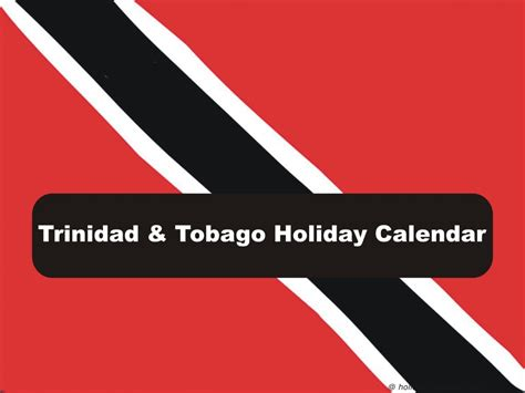 trinidad tobago holiday calendar