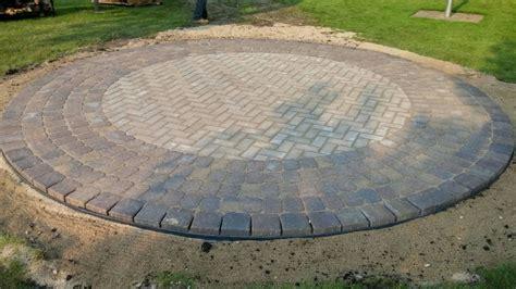 circular paver patio circular paver patio modern patio