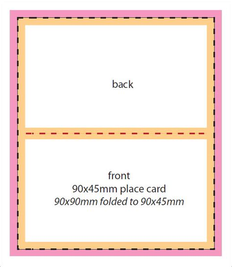 place card template word 7 place card templates sle templates