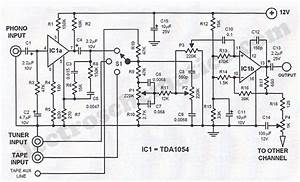tda1054 hi fi stereo preamplifier circuit diagram With this is the schematic diagram of quotspunky39squot preamplifier circuitry