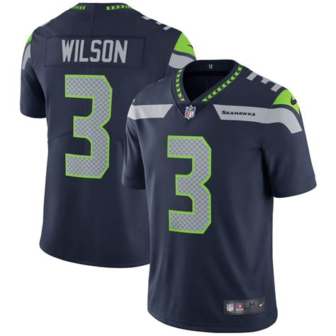 youth seattle seahawks russell wilson nike college navy