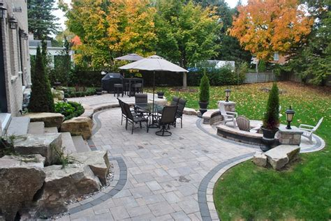Backyard Patio Landscaping by Backyard Landscaping Whitby On Photo Gallery