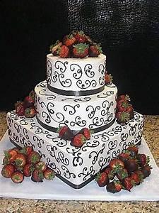 Strawberry wedding cake | cakes | Pinterest