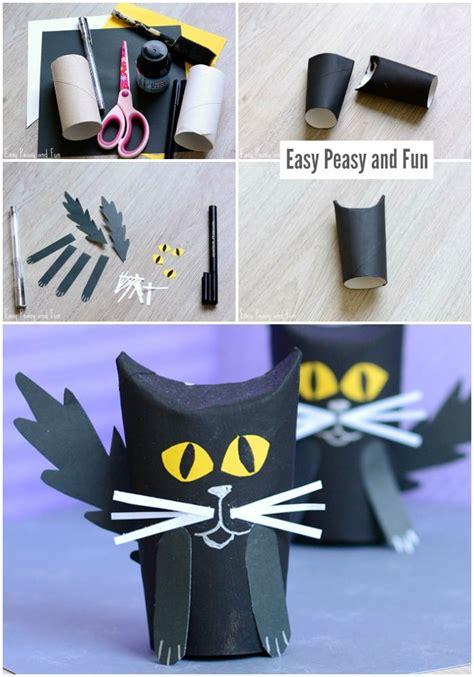 paper roll black cat craft easy peasy  fun