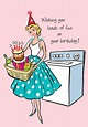 Laundry~Greeting Card Happy BIrthday Fashionista with by ...