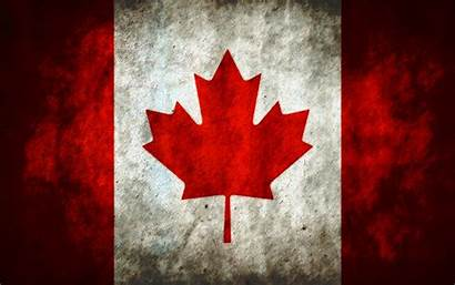 Flag Canadian Canada Grunge Wallpapers Flags Maple