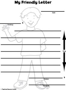 heres  friendly letter printable template  lesson
