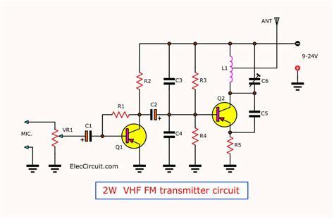 Long Range Transmitter Circuit Mhz Vhf