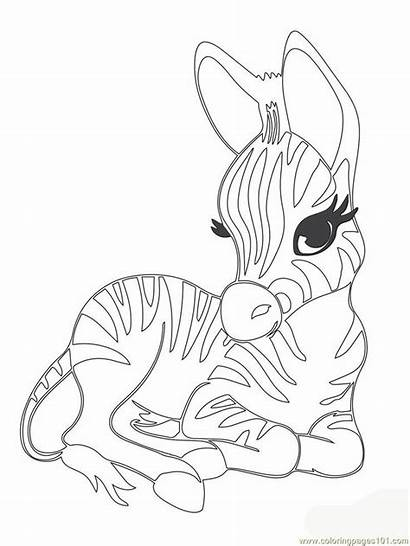 Coloring Pages Animals Adorable Clipart Printable Difficult