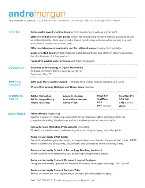 Design Of Resume by 36 Beautiful Resume Ideas That Work
