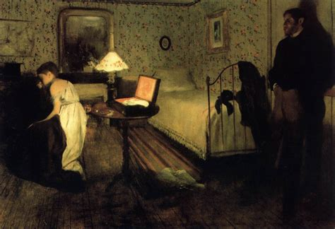 chambre nuit de noce interior the by degas edgar