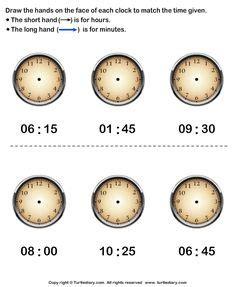 time worksheets images worksheets kindergarten