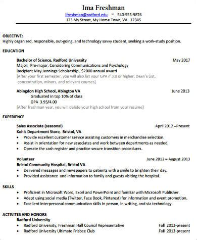 college resume sample  examples  word