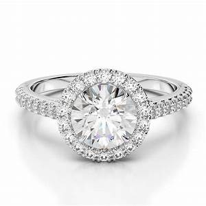 2 carat e vvs1 round cut halo diamond wedding engagement With 2 carat diamond wedding ring
