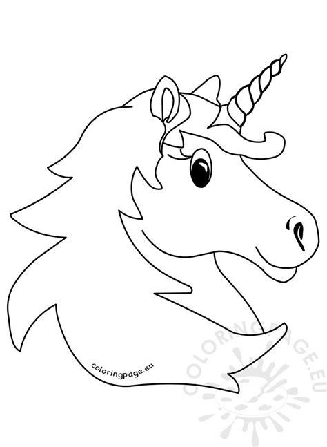 vector illustration magic unicorn head coloring page