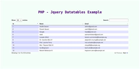 php script query mysql