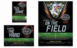 football training flyer ad template design With high school football program template