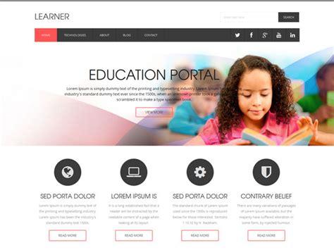 Top 10 School Website Templates 40 best education html website templates ginva