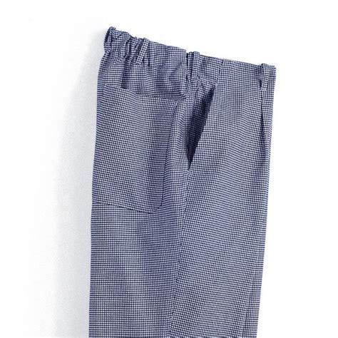 pantalon de cuisine femme pantalon cuisine homme pied de poule bleu blanc elastique dos