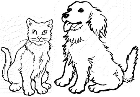 cat  dog coloring pages    print