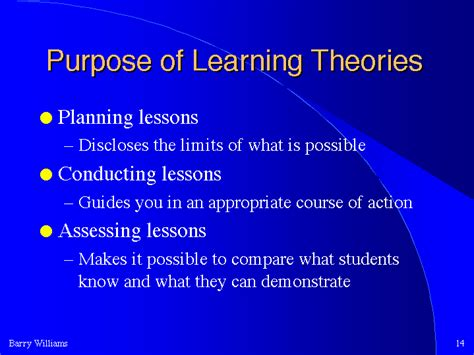 purpose of learning theories