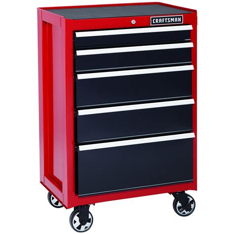 craftsman 5 drawer rolling tool box craftsman 113621 26 in 5 drawer heavy duty