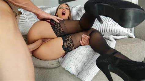 Sucking Hottie Sara Luvv Has Great Anal Sex In Black Stockings