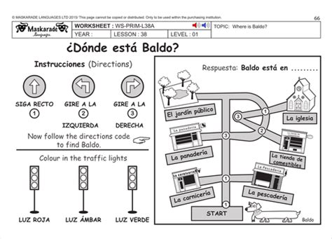 spanish ks2 level 2 directions park by uk teaching resources tes