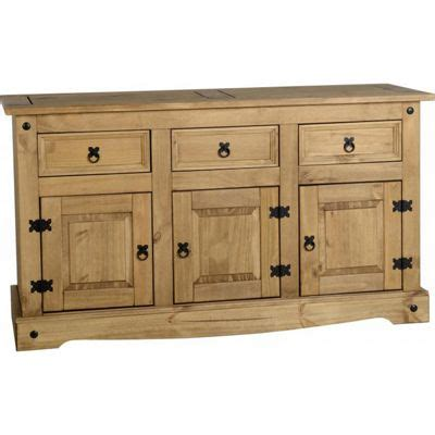 Corona Mexican Pine Sideboard by Buy Corona Mexican 3 Door 3 Drawer Sideboard Distressed