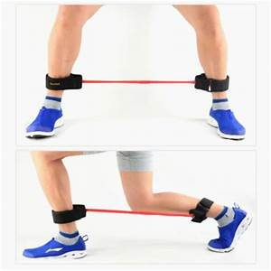 ankle exercises with band set of 4 thigh exercise latex