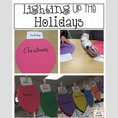 For The Love Of First Grade Light Up The Holidays (free Craft