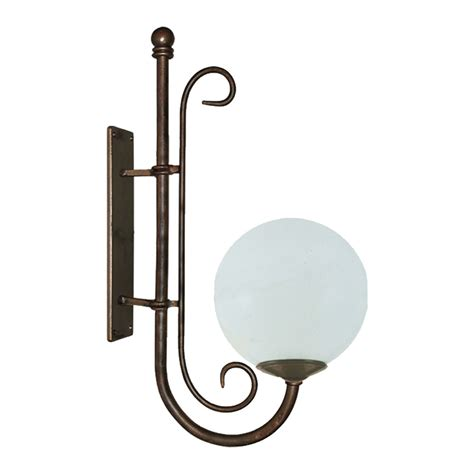 tao wall light with poly sphere top lighting