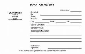16 donation receipt template samples templates assistant With donation invoice template