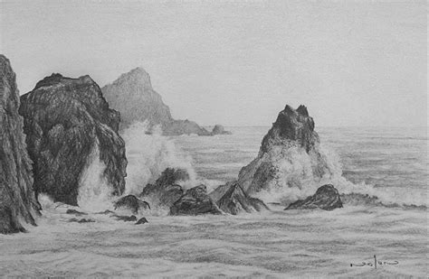 Boat Crashing Drawing by By Nolan 187 Archive 187 How To Draw A Seascape In Pencil