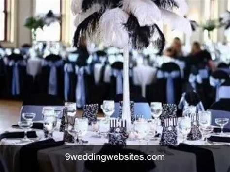 black  white wedding decor youtube