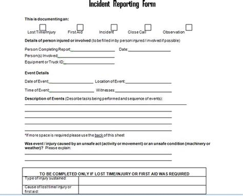 18306 incident reporting form luxury incident reporting form sle incident report form