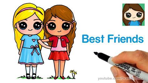 draw  cute girls easy  friends