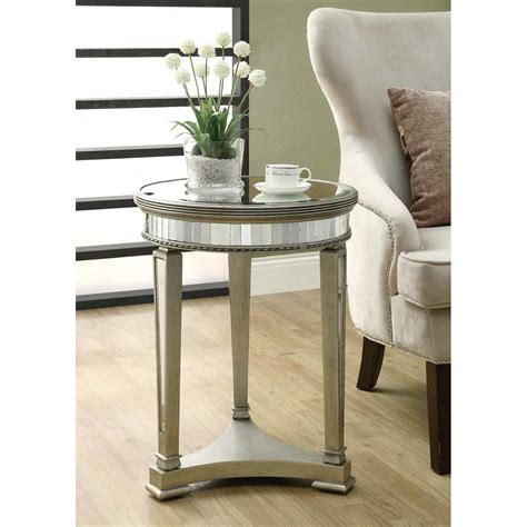 Monarch Specialties Inc Mirrored End Table & Reviews