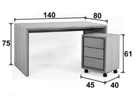 dimensions bureau bureau multimédia chêne 140 cm personnalisable groomy 5774