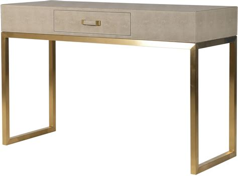 leather console table faux ostrich leather console table contemporary stainless