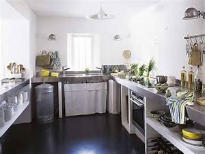 meuble de cuisine avec rideau maison et mobilier d39interieur With meuble cuisine avec rideau coulissant