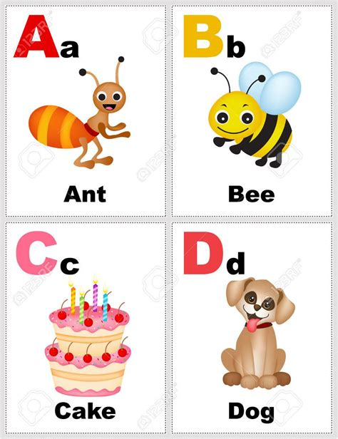 Printable Letter Flashcards With Pictures  Printable Pages